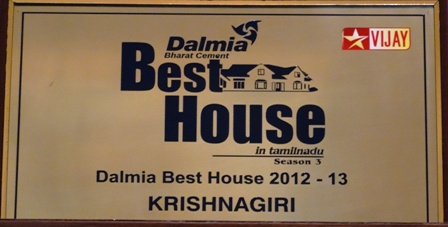 Star Vijay Dalmia Best House Award Winner